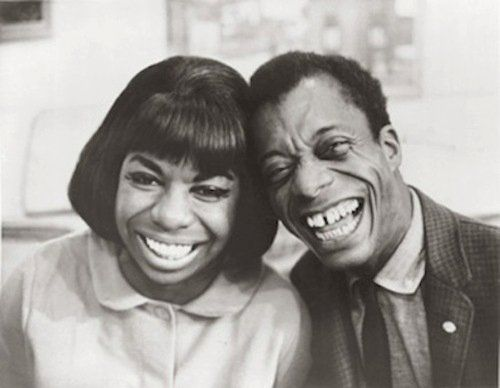 soulfamine:      awesomepeoplehangingouttogether:    Nina Simone and James Baldwin      Two of my favourite people ever the High Priestess of Soul and my favourite writer!