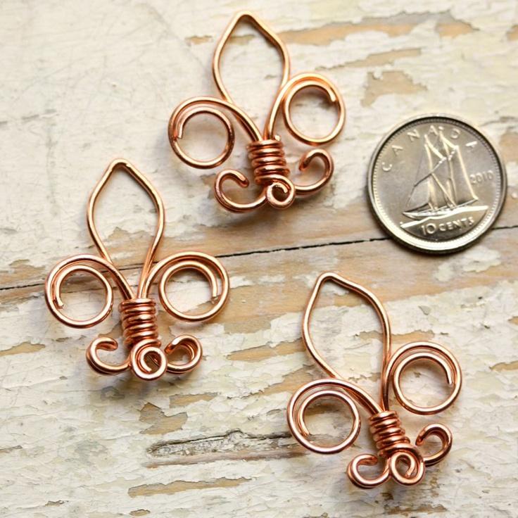 Fleur De Lis Solid Copper Wire Crafts Pinterest