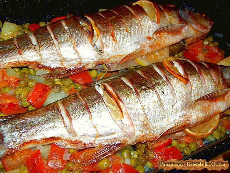 Peste cu legume la cuptor Baked fish with vegetables #fish, #vegetables
