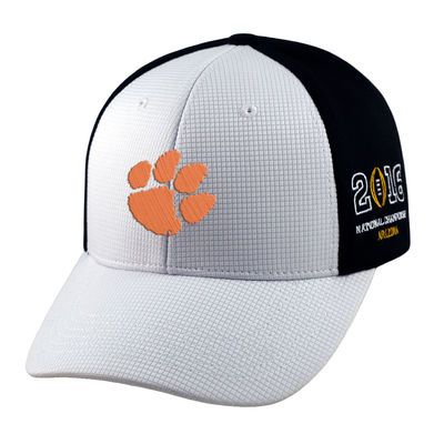 Top of the World Clemson Tigers White/Black 2016 College Football Playoff National Championship Game Bound Adjustable Hat