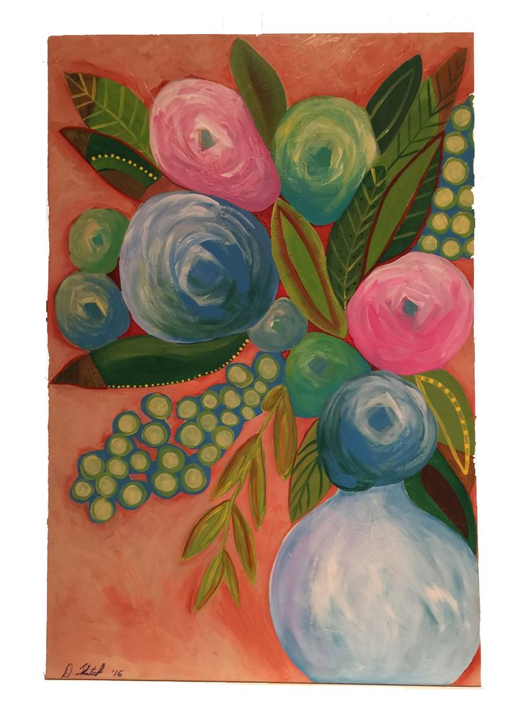 """Abstract Flower Number Eleven 24"""" x 36"""" x 3/4"""" by Diane Tkatch Found on http://laserspiderart.com"""