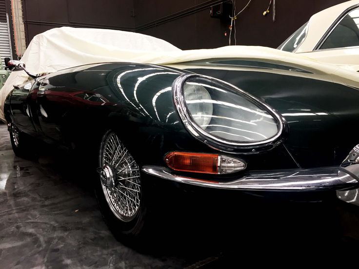 Our Jaguar E-type popping out to play peek-a-boo.