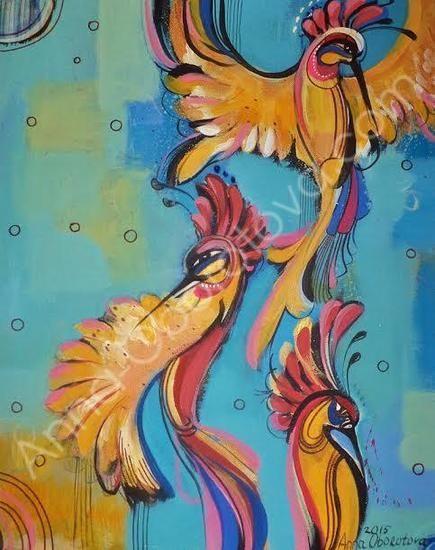 #birds #painting #paradise