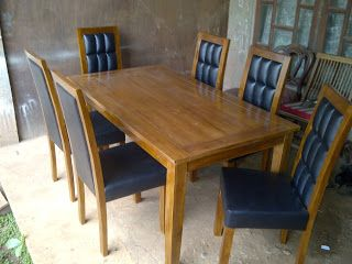 Mebel dan Furniture Jepara: Dinning Table Minimalis Jati Natural