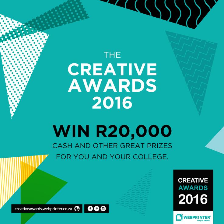 R20k up for grabs in this years #CreativeAwards with #Webprinter. Get your designs in. #media #design #savewater #savingwater #art