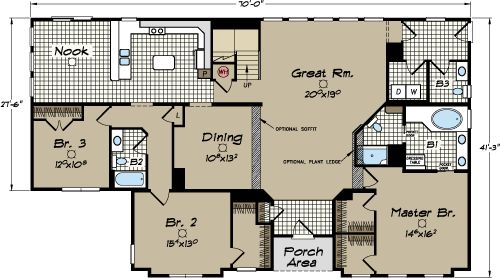 17 best images about house plans on pinterest craftsman for Modular homes south carolina floor plans