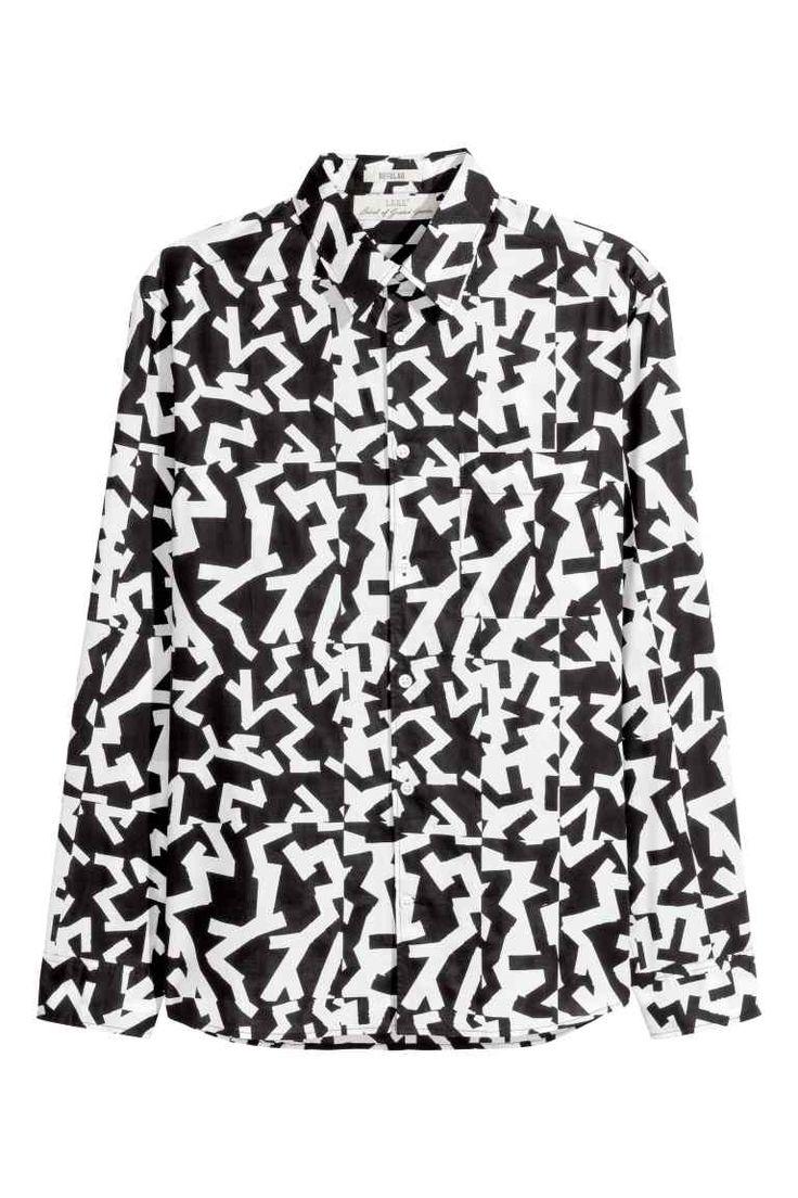 Katoenen overhemd met dessin | H&M