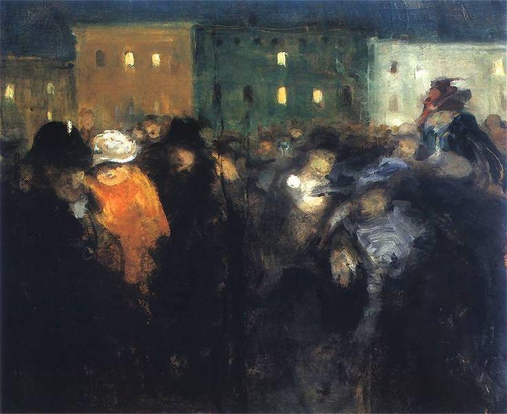Mi-Caréme.  1907. Olej na płótnie. 52 x 63 cm.  Muzeum Narodowe, Warszawa.    http://www.pinakoteka.zascianek.pl/Wojtkiewicz/Images/Mi_Careme.jpg