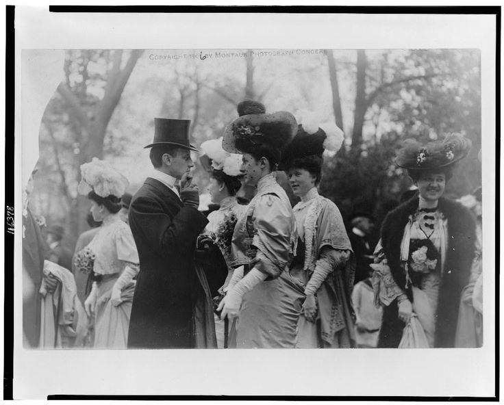 [Mr. & Mrs. Goodhue Livingston and Mrs. Alfred Gwynne Vanderbilt at an outdoor social gathering for the annual parade of the coaching club]    Library of Congress