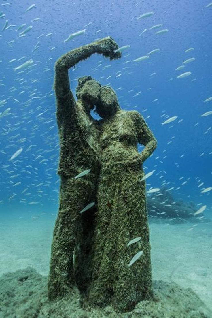 ith over 300 works spread over 12 installations, Europe's first underwater museum has just opened off Lanzarote. Jason deCaires Taylor's Museo Atlantico is a heroic work we've been following for years.