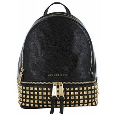 MICHAEL Michael Kors Women's Small Studded Backpack, Black, One Size