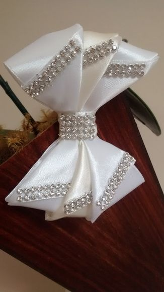 Laço Luxo Branco - Daminha de Honra