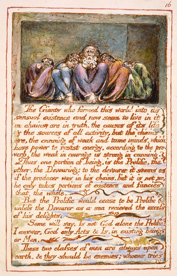 The Marriage Of Heaven And Hell - Poem by William Blake