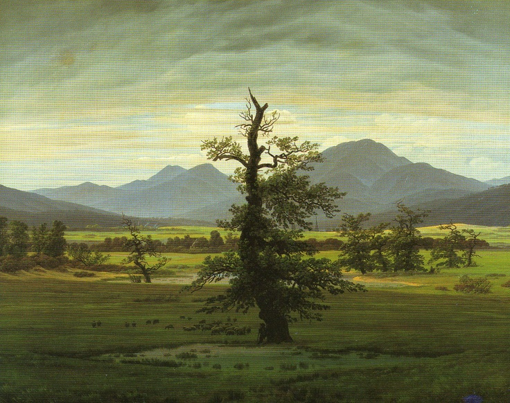Friedrich. 1774-1840. The Solitary Tree. Nationalgalerie