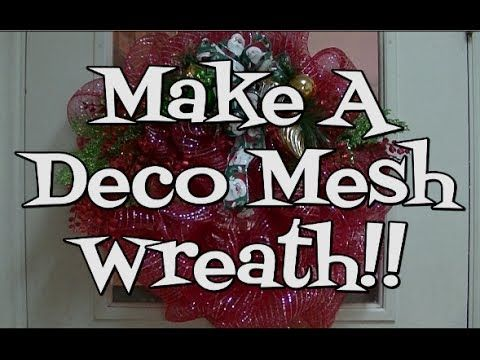 ▶ Trendy Tree Basic Deco Poly Mesh Wreath Tutorial Using Pouf Technique - YouTube