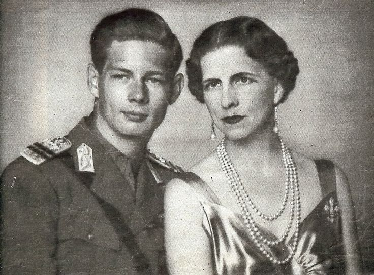 King Michael with his mother, Princess Helen, in 1940. After his parents' divorce Michael's father, King Carol II, banished Helen from Romania and allowed Michael to visit her infrequently. Upon regaining the throne in 1940 one of the first things Michael did was to bring his mother home from exile.