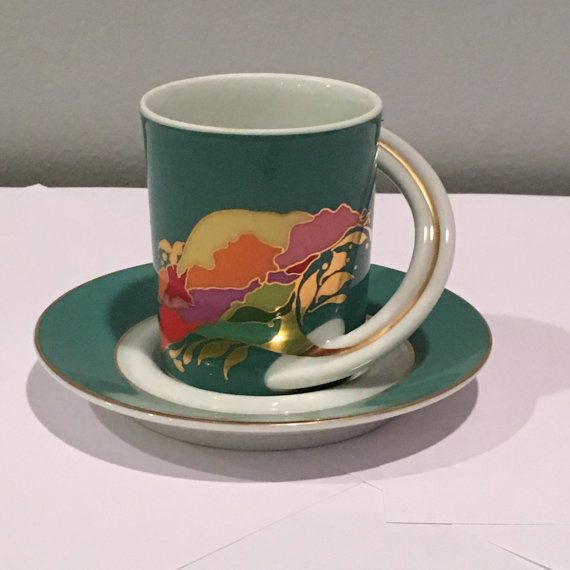 Vintage Designer Series Espresso Cup - Rosenthal Cupola Studio Linie # 9 - Bjorn Wiilblad; Shipping Included to US and Canada