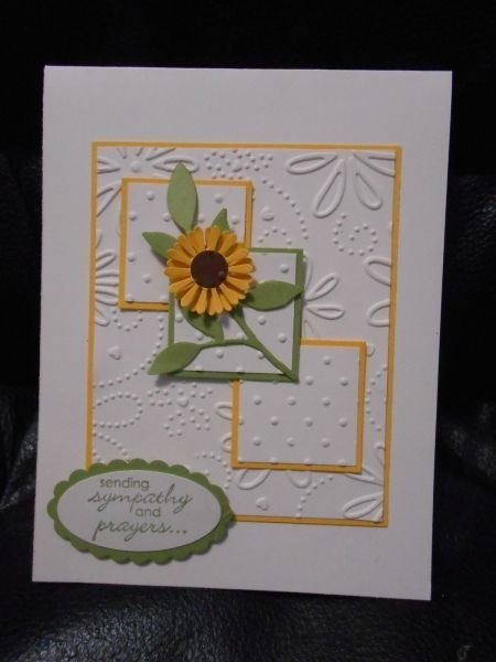 Boho punch flower--The floral embossing folder is NON SU. by terrie