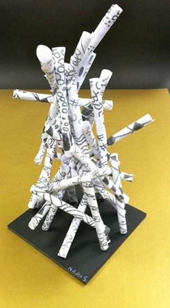 paper roll sculpture