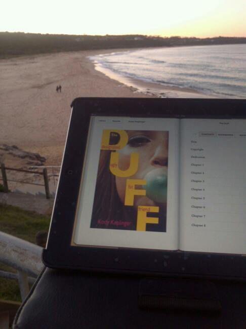 My date and I on holidays at Merimbula Beach...enjoying the waves #4WinterFlings - Karlie (Facebook)