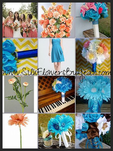 Coral Reef & Malibu Blue Wedding Theme