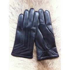 Men's Genuine Lambskin Leather Gloves Lined With Cashmere
