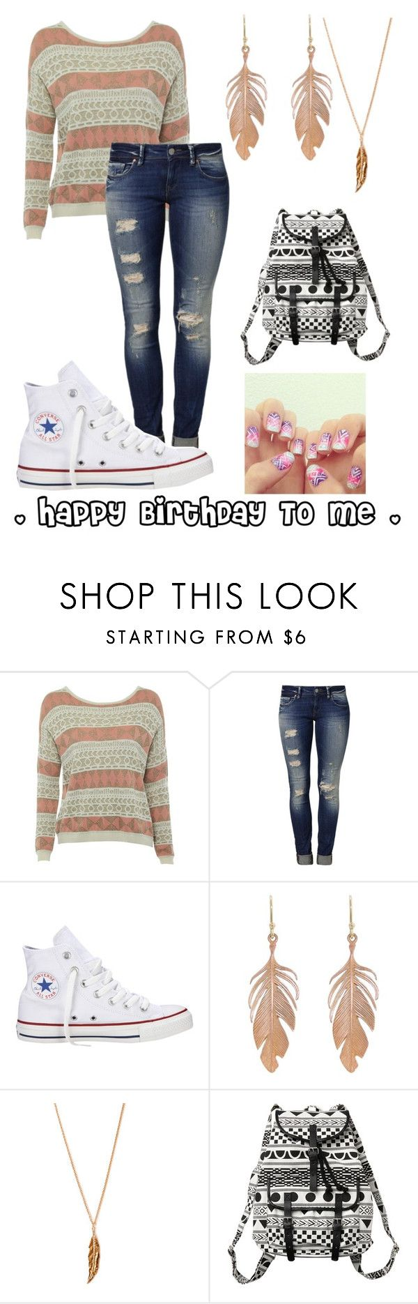 """! It's My Birthday Today !"" by nina4ever14 ❤ liked on Polyvore featuring Sugarhill Boutique, Mavi, Converse, Annette Ferdinandsen, Forever 21 and Monki"