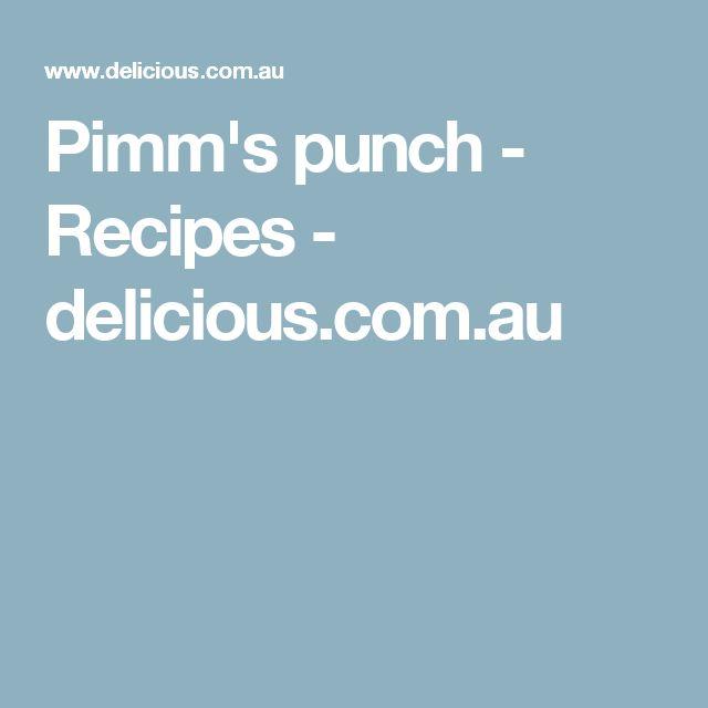 Pimm's punch - Recipes - delicious.com.au