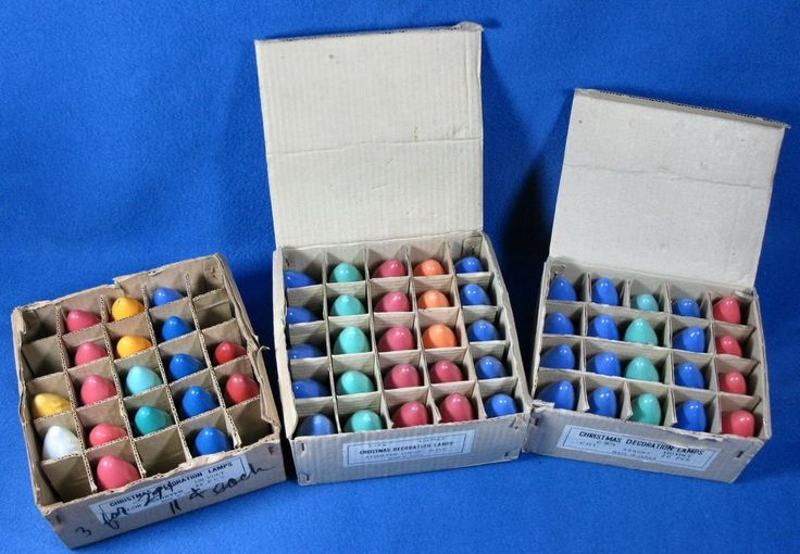 63 Vintage Christmas Multi Colored Light Bulbs C9 1/4 Decorating & Crafts #Unb