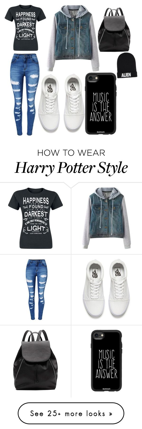 """""""kryptonite"""" by hannah-graves on Polyvore featuring WithChic, Vans, Witchery, Casetify and Nicopanda"""