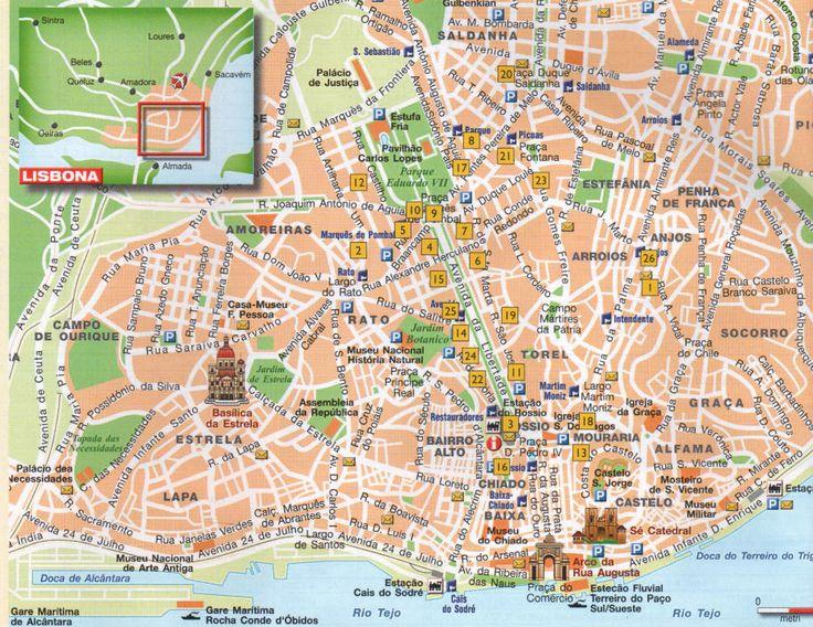 LISBONA: mappa centro storico