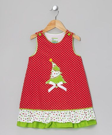 Take a look at this Red & Green Christmas Tree Jumper - Infant, Toddler & Girls by Candyland on #zulily today!
