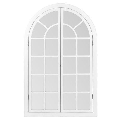 Witte Marsilly venster spiegel maisons du monde