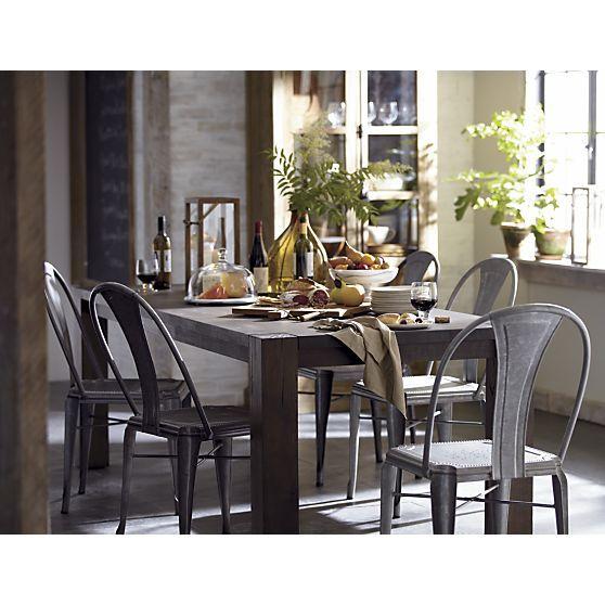 dining table big sur dining table crate and barrel. Black Bedroom Furniture Sets. Home Design Ideas