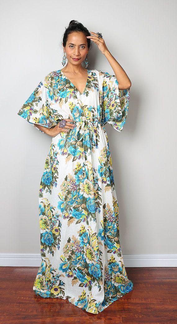 Boho платья макси / Кафтан длинные летние платья с цветочными от Nuichan