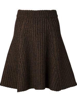 falda acampanada de punto de ochos