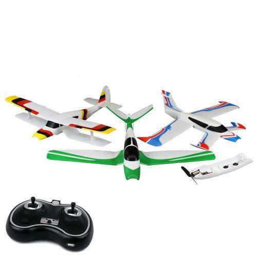 4-KANAL 2.4GHz - 3in1 Snap&Fly rc ferngesteuertes Flugzeug-SET, CANARD + BIPLANE + V-TAIL Flieger, Neu Ovp, inkl. 3 x Akku, 3 x Chassis, Komplett-Set, Top-Design