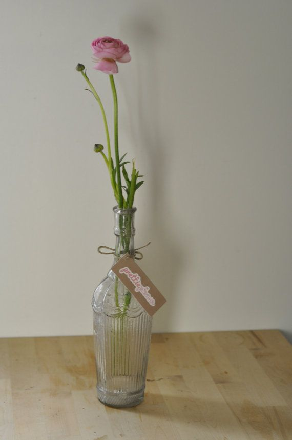 Beautiful French Glass Decorative Bottle. by PrettiePlease on Etsy, €9.50