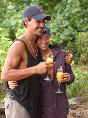 These Small-Screen Couples Have Had Some Very Showy Romances: Rob Mariano and Amber Brkich, Survivor and The Amazing Race.