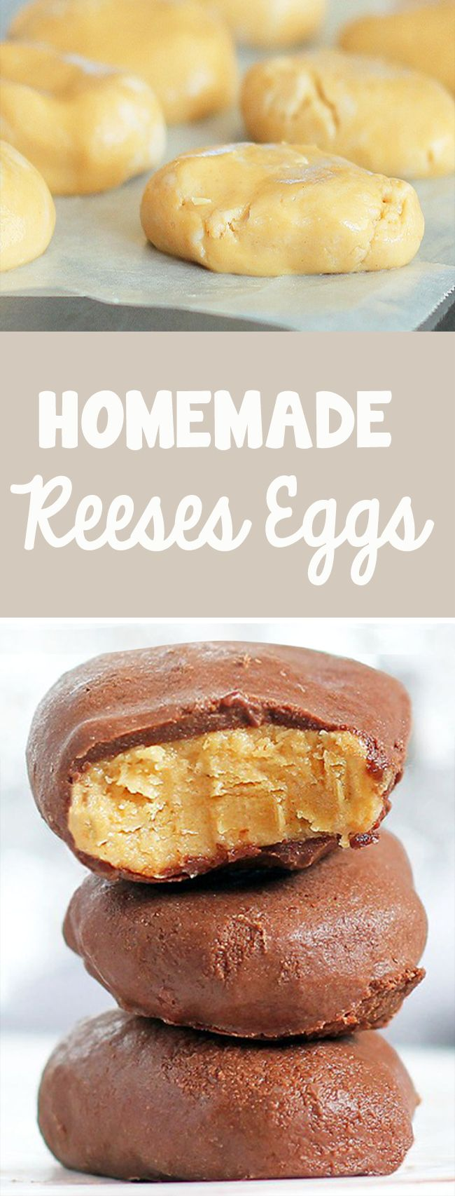These are REALLY good! Just mix the ingredients, form patties, and dip in chocolate. 5 minutes and you're done! @choccoveredkt... Full recipe: http://chocolatecoveredkatie.com/2012/03/29/copycat-recipe-reeses-peanut-butter-eggs/