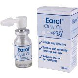 Easy one-hand use, olive oil dispenser for ear wax