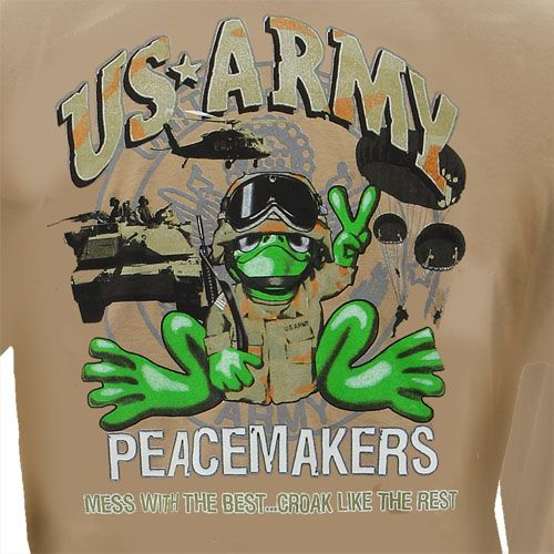 Peace Frogs Adult US Army Short Sleeve T-Shirt