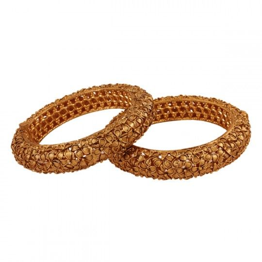 All time gold plated antique bangle