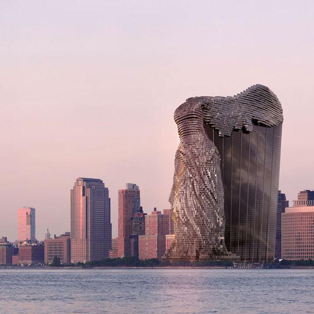 ルーブル美術館「サモトラケのニケ」のかたちをした『夢の高層ビル』が荘厳な完全美、素晴らしい