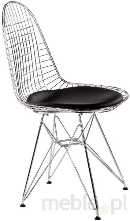 Krzesło Net w oryginalnej formie z czarną poduszką, D2 - Meble