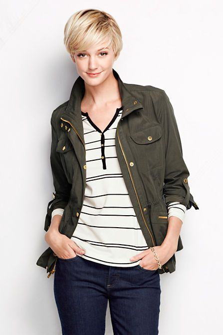 Women's Military Anorak Jacket from Lands' End