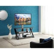 walmart wall mount tv stand with 3 shelves black for tvs up to