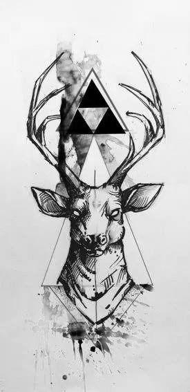 #deer #tattoo #deertattoo #triforce