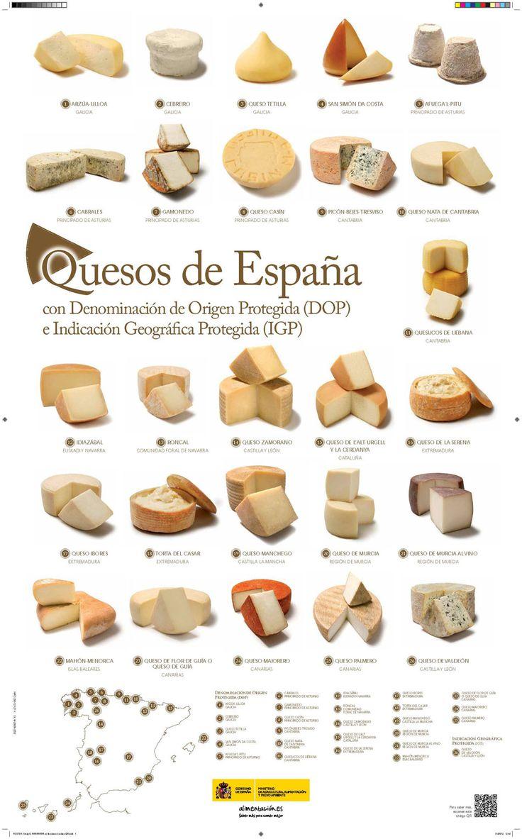 Estos son los quesos de España.
