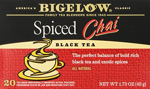 Bigelow Spiced Chai Tea, 20-Count Boxes (Pack of 6) *** Want to know more, click on the image.